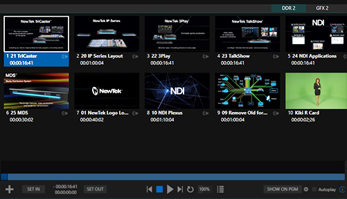 Tricaster TC1 media Player